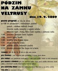 plakát Podzim na zámku Veltrusy
